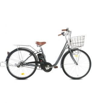 """Bici E-Bike / E-Fahrrad Elektrofahrrad City Power G 26"""" LI-Akku grau Bild 1"""