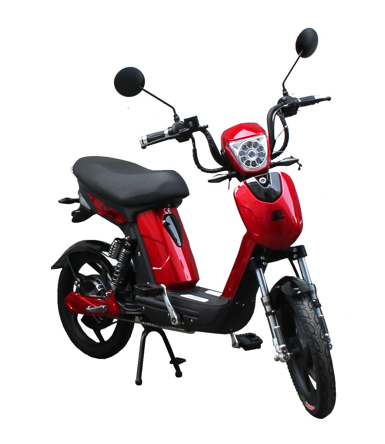 Bici E-Bike / E-Fahrrad / Elektrofahrrad City rot Bild 1