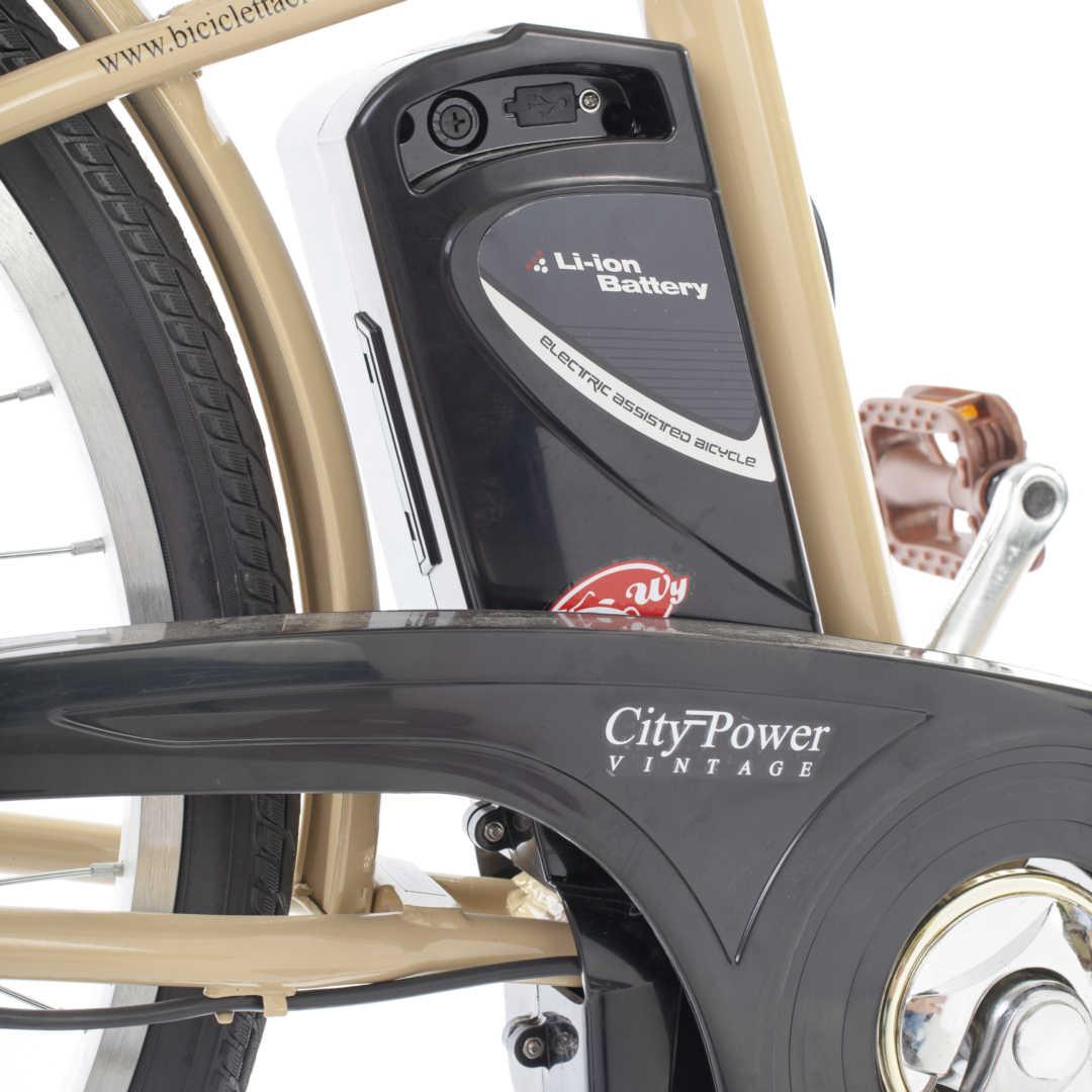 """City Power E-Bike / E-Fahrrad Elektrofahrrad 24"""" LI-Akku beige Bild 7"""