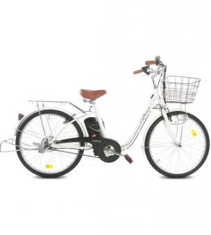 """City Power E-Bike / E-Fahrrad Elektrofahrrad  LI-Akku 26"""" weiß Bild 1"""