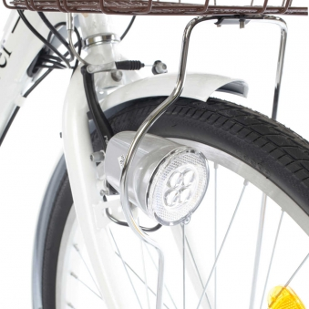 """City Power E-Bike / E-Fahrrad Elektrofahrrad  LI-Akku 26"""" weiß Bild 3"""