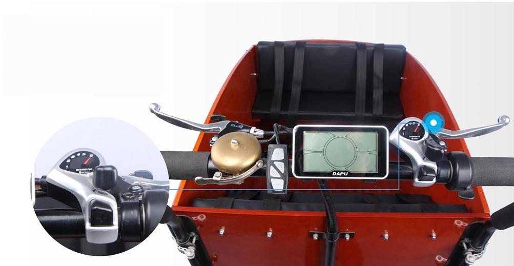 """Elektro Lastenfahrrad E-Lastenrad Transportrad Cargorad Sherpa1 26"""" Bild 6"""