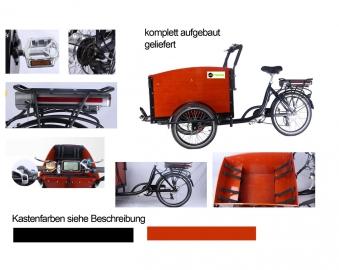 """Elektro Lastenfahrrad E-Lastenrad Transportrad Cargorad Sherpa1 26"""" Bild 1"""
