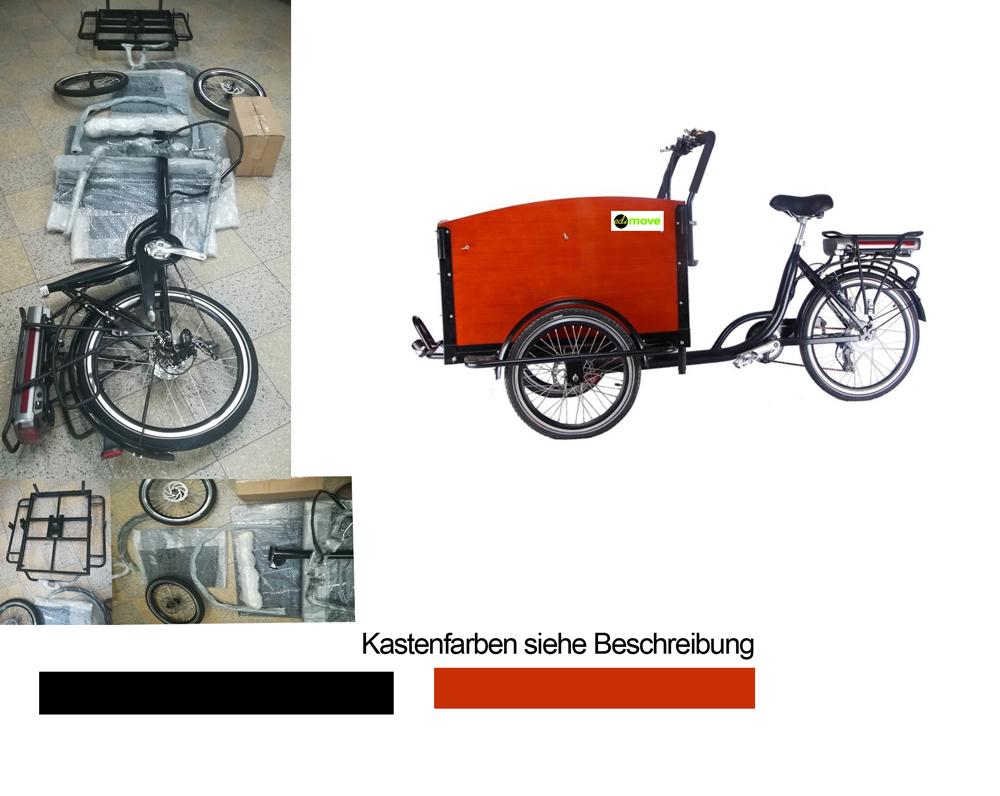 Elektro Lastenrad E-Lastenfahrrad Transportfahrrad Cargorad Bausatz Bild 1