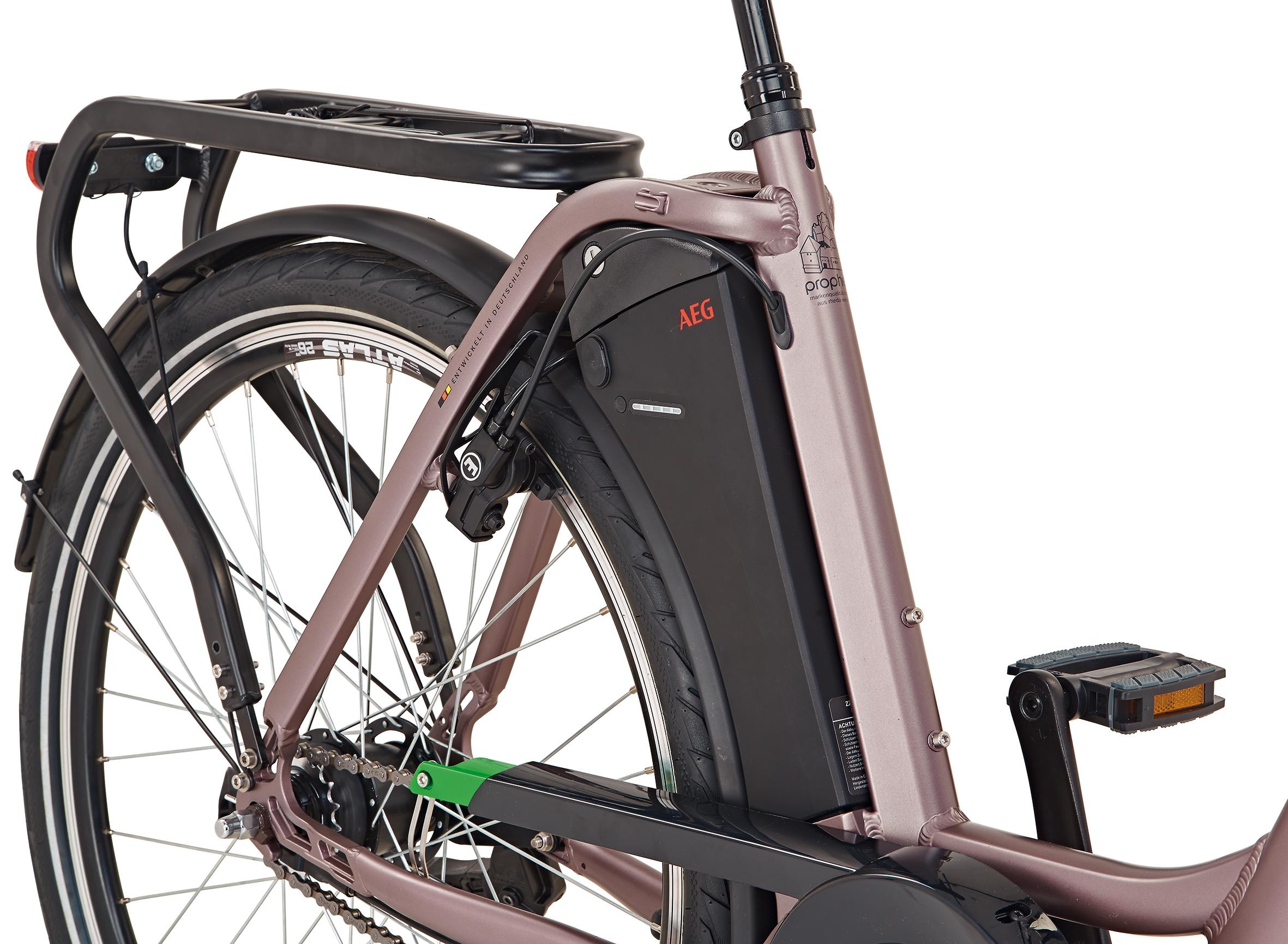 "Prophete Elektrofahrrad / E-Bike Geniesser e9.7 City E-Bike 26"" grau Bild 2"