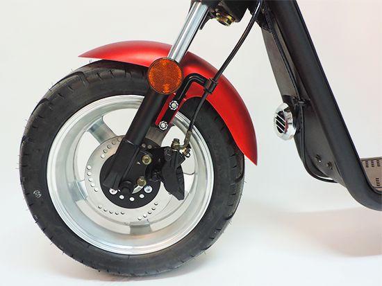 Citi Cruiser Elektro Scooter Chopper City-Scooter schwarz glänzend Bild 3