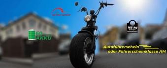 Citi Cruiser Elektro Scooter Chopper City-Scooter schwarz glänzend Bild 6