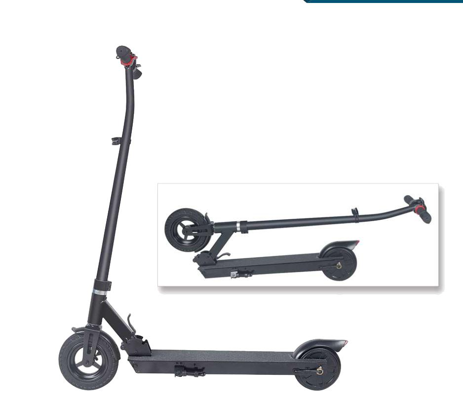 Elektro Scooter / Elektroroller / E-Scooter FW103 schwarz klappbar 36V Bild 1
