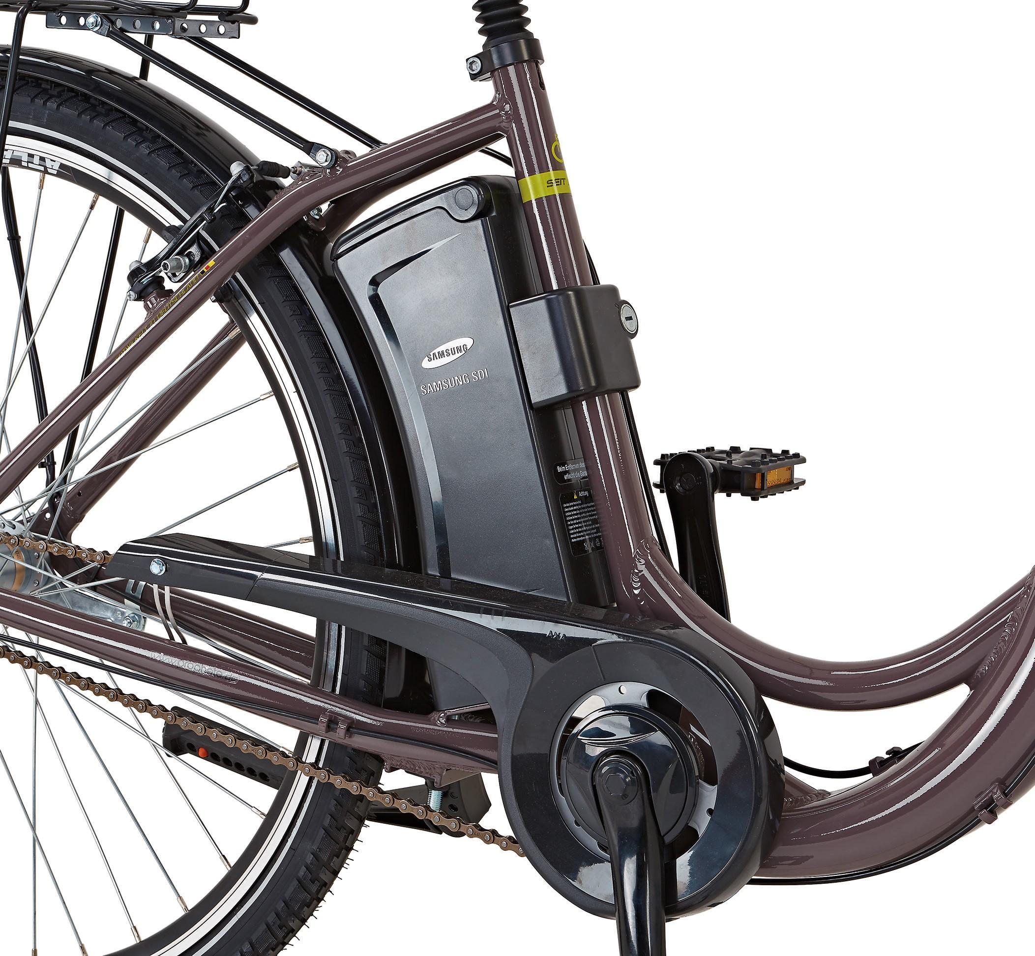 elektrofahrrad e bike damen alu city navigator 7 3 28. Black Bedroom Furniture Sets. Home Design Ideas