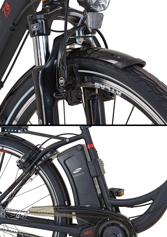 elektrofahrrad e bike damen alu city navigator 7 8 28. Black Bedroom Furniture Sets. Home Design Ideas