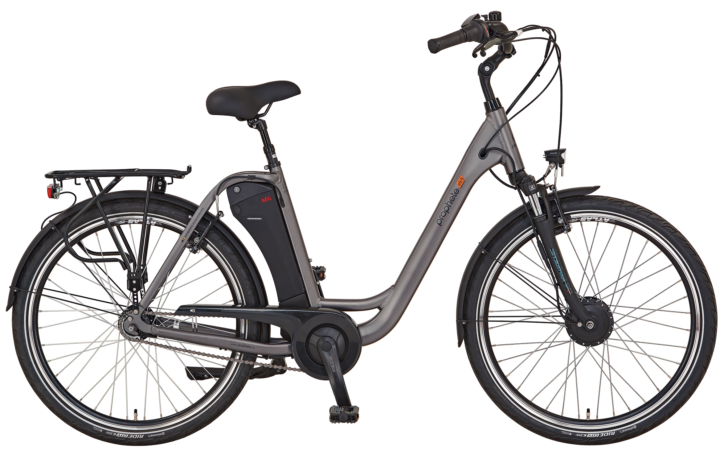 "Prophete Elektrofahrrad / E-Bike Geniesser e9.5 City E-Bike 26"" grau Bild 1"