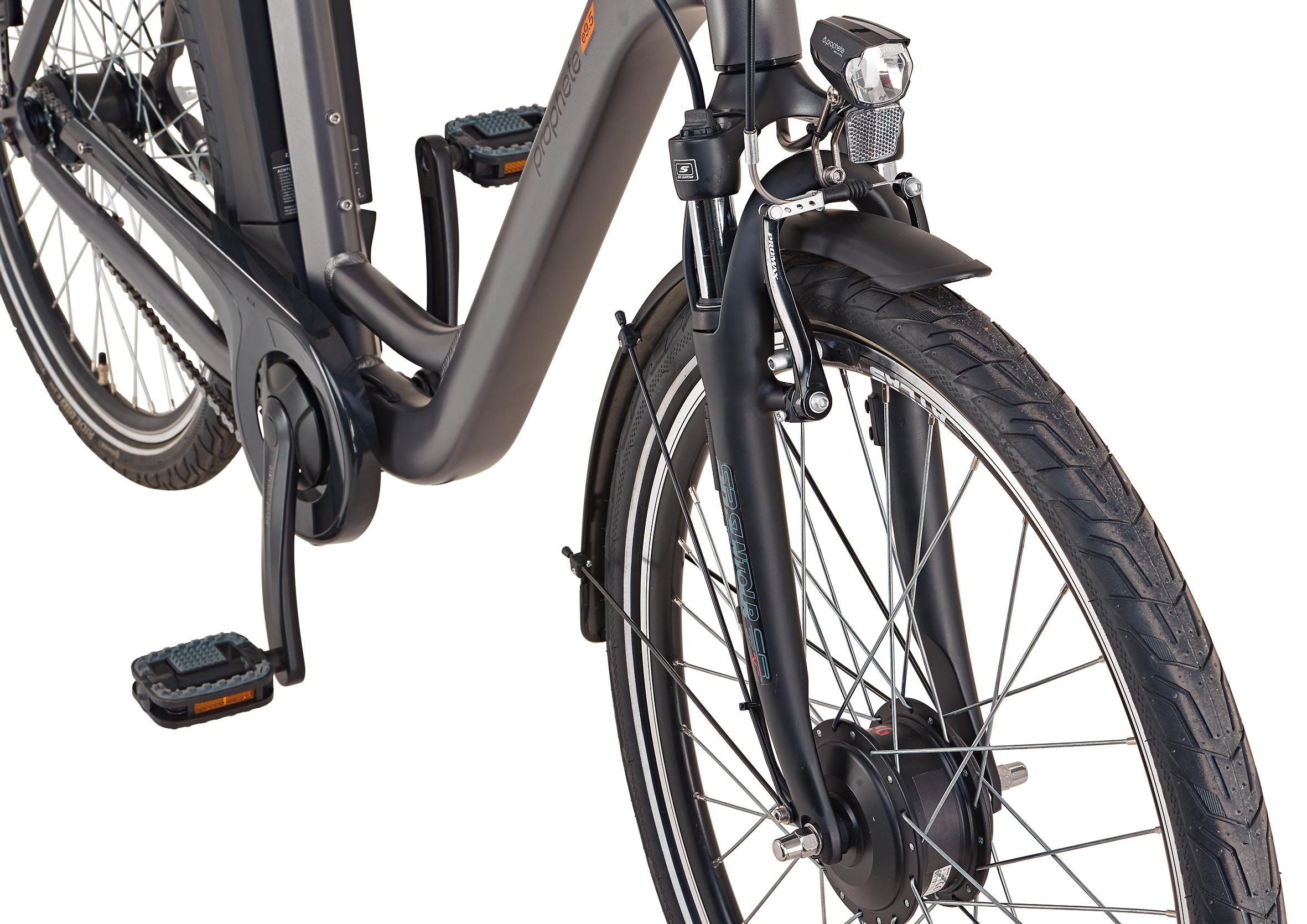 "Prophete Elektrofahrrad / E-Bike Geniesser e9.5 City E-Bike 26"" grau Bild 4"