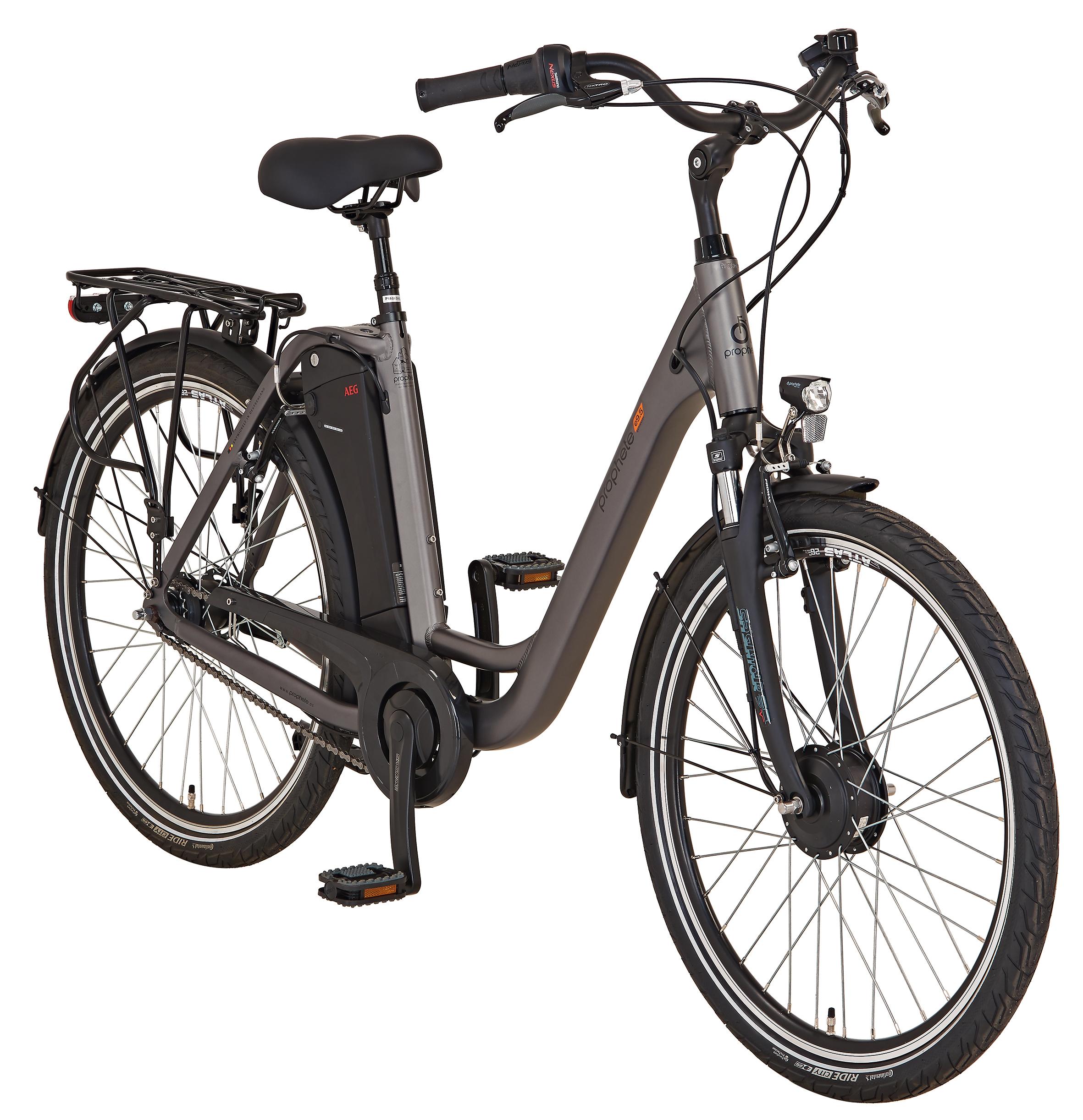 "Prophete Elektrofahrrad / E-Bike Geniesser e9.5 City E-Bike 26"" grau Bild 6"