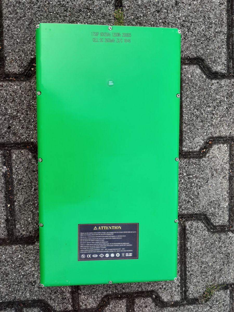 Batterie Akku Accu Lithium 60Volt 20AH für Elektroroller E-Roller Bild 1