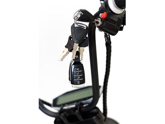 Chopper, Elektroroller, E-Roller 1500/25/3.0 schwarz-weinrot glänzend Bild 2