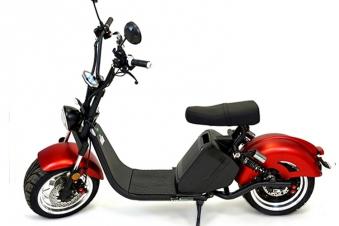 Chopper, Elektroroller, E-Roller 1500/25/3.0 schwarz-weinrot glänzend Bild 1