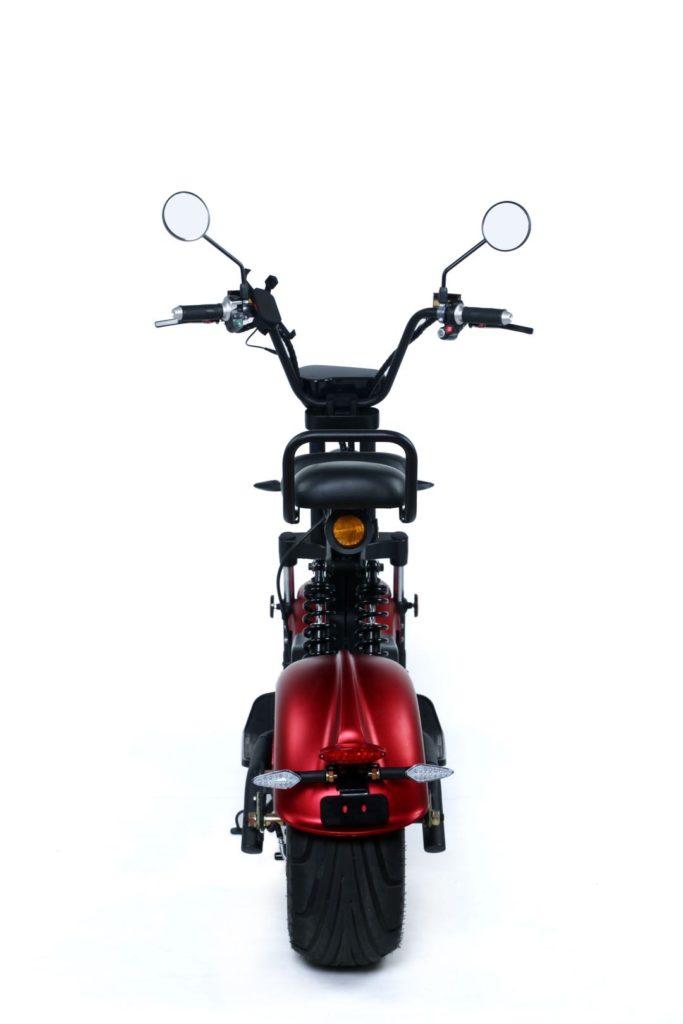 Chopper, Elektroroller, E-Roller 1500/25/3.0 sw-mattrot Bild 3