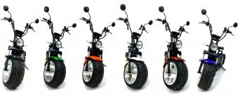 Chopper, Elektroroller, E-Roller 1500/25/3.0 sw-mattrot Bild 8