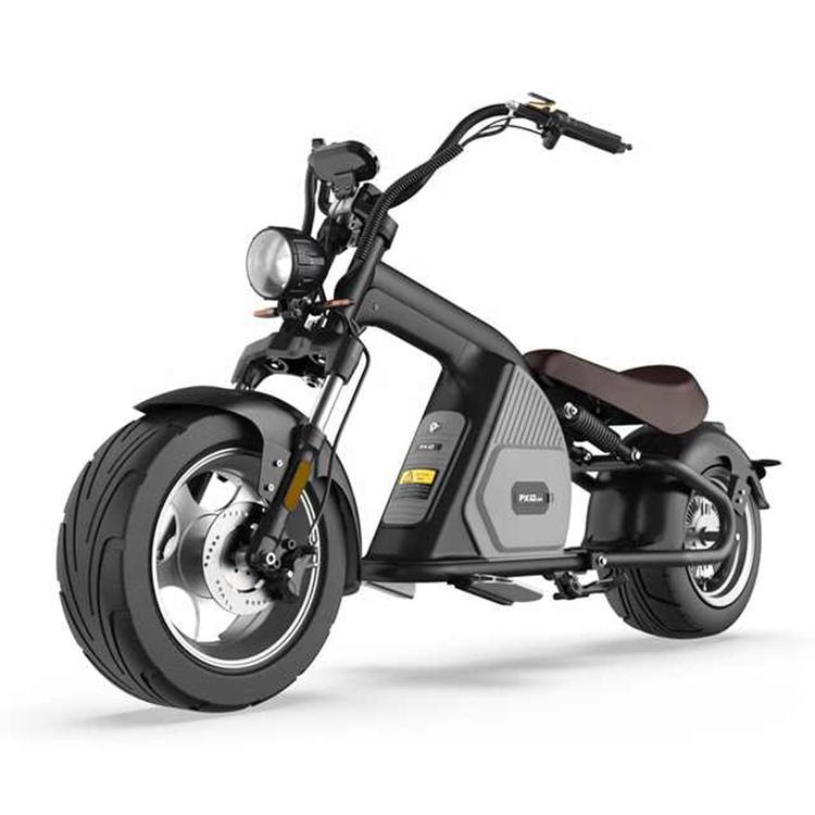 E-Roller 45Km/h Elektroroller Mr. Harley C80-45 Chopper schwarz Bild 1