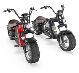 E-Roller 45Km/h Elektroroller Mr. Harley C80-45 Chopper schwarz Bild 2