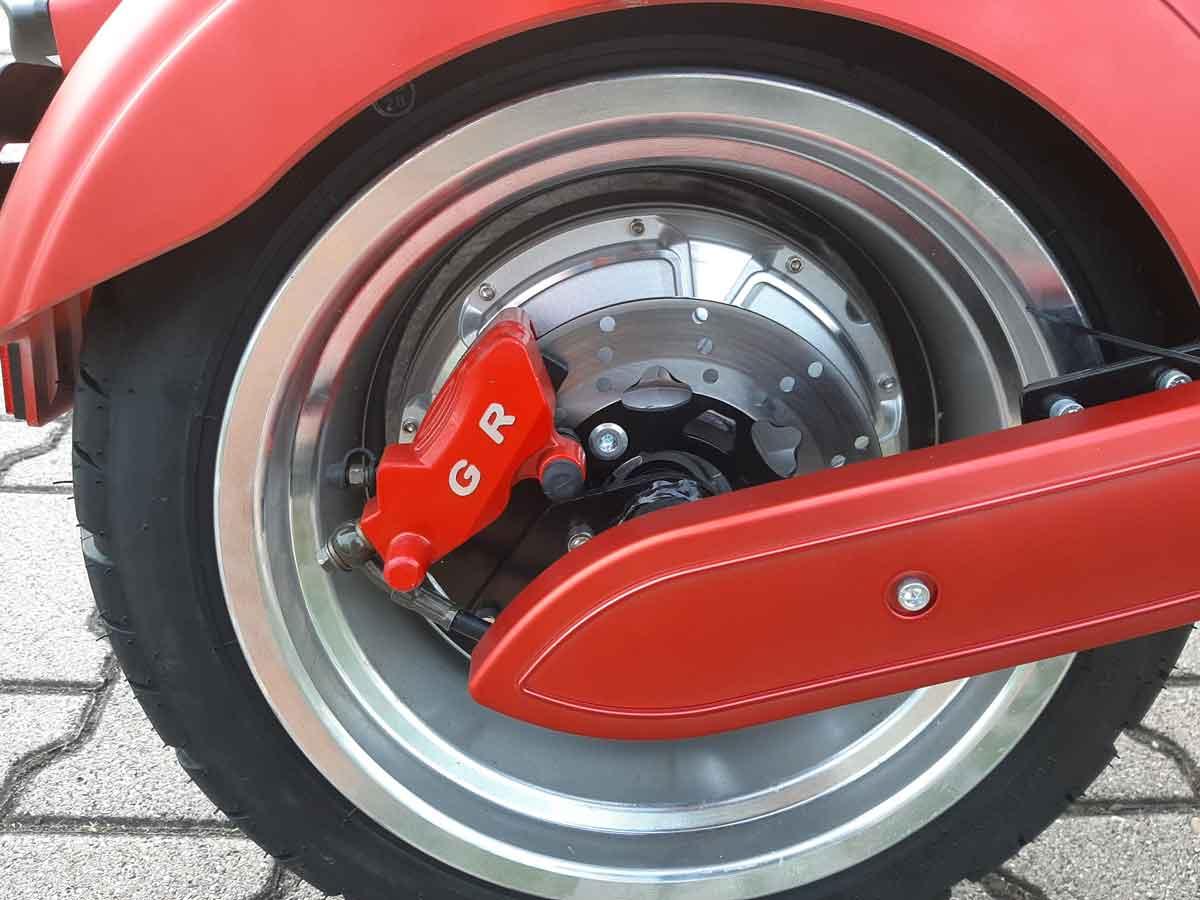 Elektro Mr.Harley C3000S Elektro-Roller E-Chopper rot-matt Bild 5