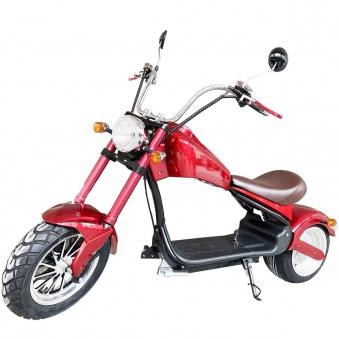 Elektro Mr.Harley C3000S Elektro-Roller E-Chopper rot-matt Bild 1