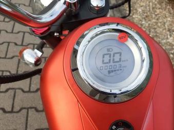 Elektro Mr.Harley C3000S Elektro-Roller E-Chopper rot-matt Bild 4