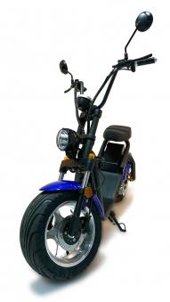 Elektro-Roller, 1200L, E Cruiser, Elektro Scooter, City Chopper sw/bl Bild 1
