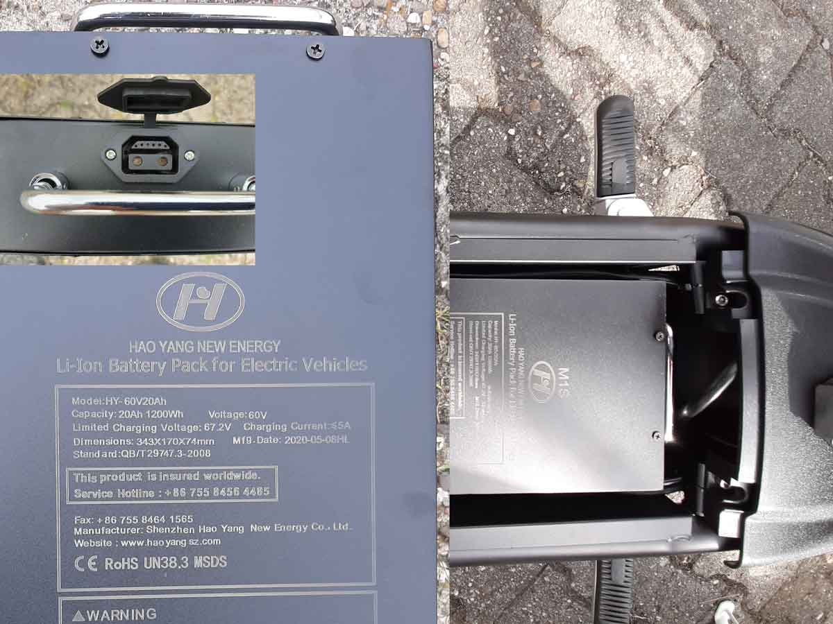 Elektroroller 45KM/H Mr.Harley C9 28 Ah E-Roller Chopper rot-matt Bild 7