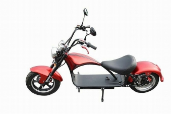 Elektroroller 45KM/H Mr.Harley C9 28 Ah E-Roller Chopper rot-matt Bild 1