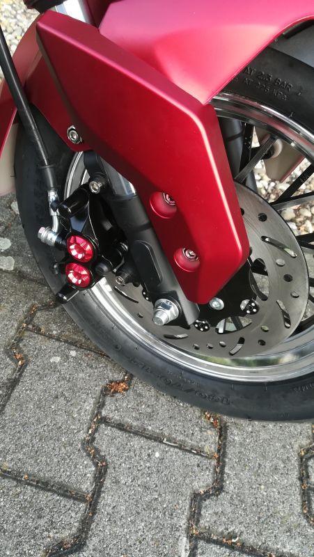 Elektroroller 45KM/H Mr.Harley C9 30 Ah E-Roller Chopper rot-matt Bild 5