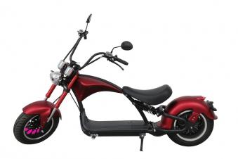 Elektroroller 45KM/H Mr.Harley C9 30 Ah E-Roller Chopper rot-matt Bild 1