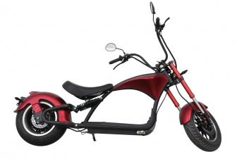 Elektroroller 45KM/H Mr.Harley C9 30 Ah E-Roller Chopper rot-matt Bild 2