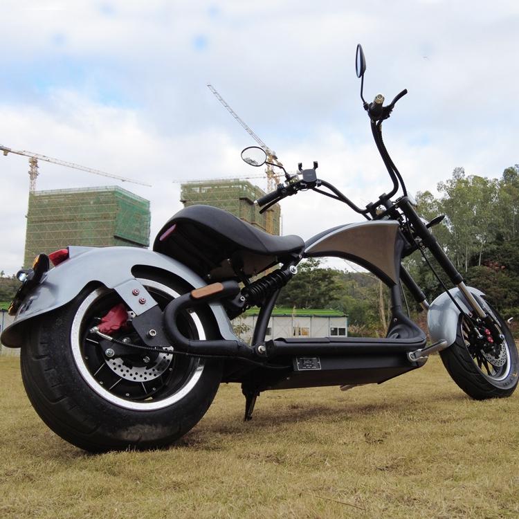 Elektroroller 45Km/h Chopper C9-2.0 Mr. Harley silber Bild 1