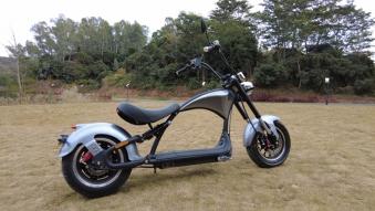 Elektroroller 45Km/h Chopper C9-2.0 Mr. Harley silber Bild 2