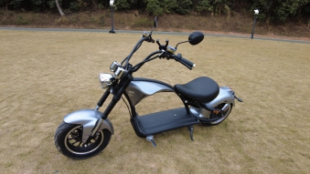 Elektroroller 45Km/h Chopper C9-2.0 Mr. Harley silber Bild 3