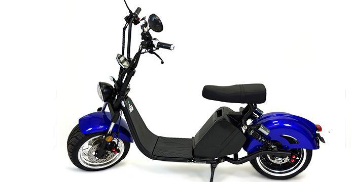 Elektroroller City-Scooter City Chopper 1500GT Elektro Chopper blau Bild 1