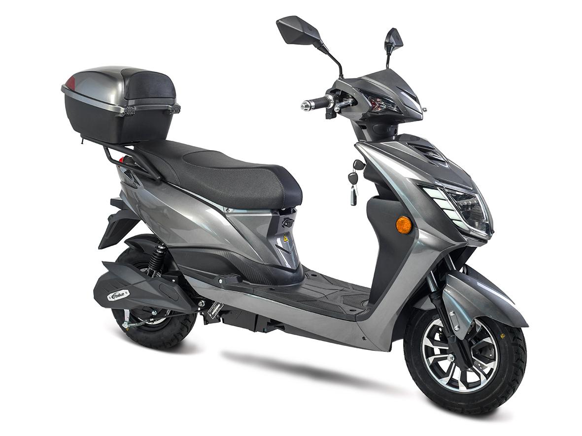 Elektroroller, E- Roller, Motorroller Siegurd1 grau 2000, 45km/h Bild 2