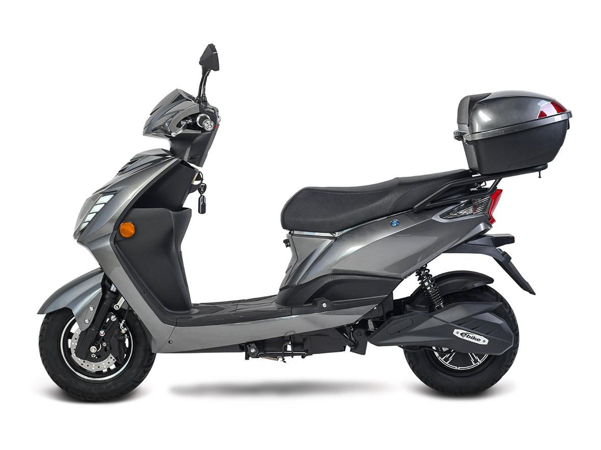 Elektroroller, E- Roller, Motorroller Siegurd1 grau 2000, 45km/h Bild 3