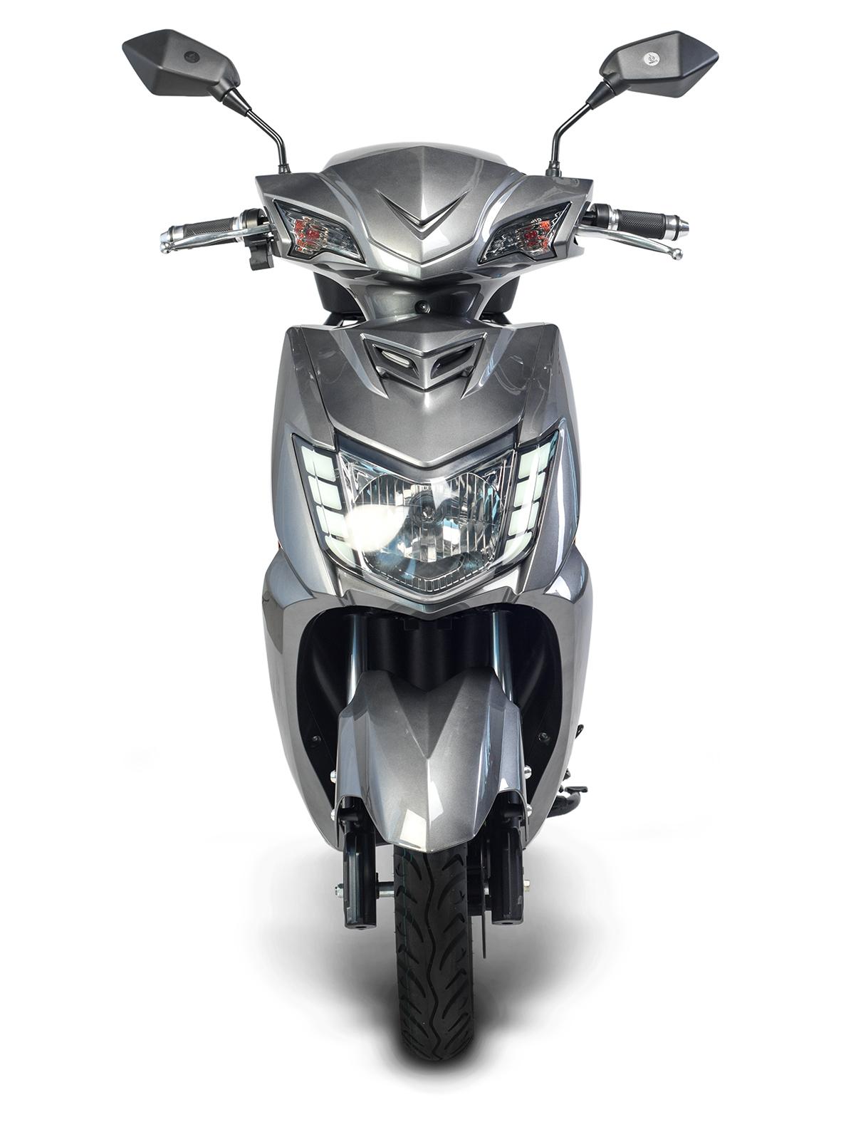 Elektroroller, E- Roller, Motorroller Siegurd1 grau 2000, 45km/h Bild 6
