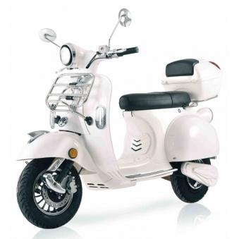 Elektroroller Retro 72 / E-Roller Ginabella Classico 3000 weiss Lithiu Bild 1
