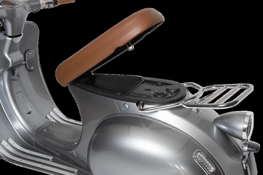 Elektroroller Retro Ginabella - 2000H / E - Motorroller 45Km/h grau Bild 5