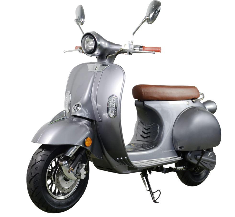 Elektroroller Retro Ginabella - 2000H / E - Motorroller 45Km/h grau Bild 7