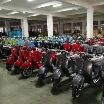 Elektroroller Retro Ginabella - 2000H / E - Motorroller 45Km/h grau Bild 3
