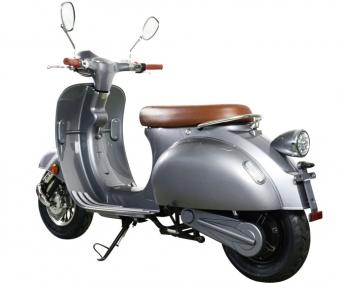 Elektroroller Retro Ginabella - 2000H / E - Motorroller 45Km/h grau Bild 6
