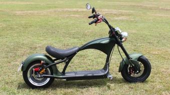 Mr.Harley C9-2.0 Elektrochopper Elektroroller City Scooter grün Bild 1