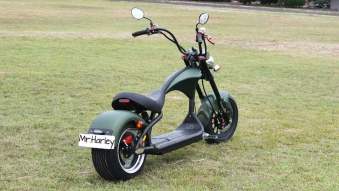Mr.Harley C9-2.0 Elektrochopper Elektroroller City Scooter grün Bild 5