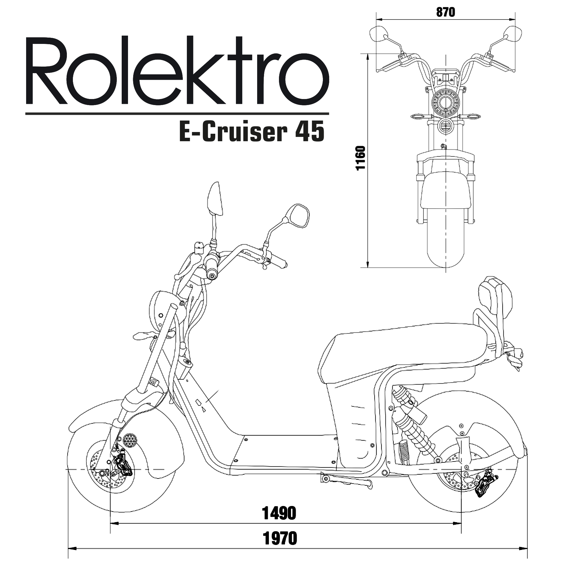 Rolektro, Elektroroller, City Cruiser, E- Chopper, City Coco 90 Bild 4