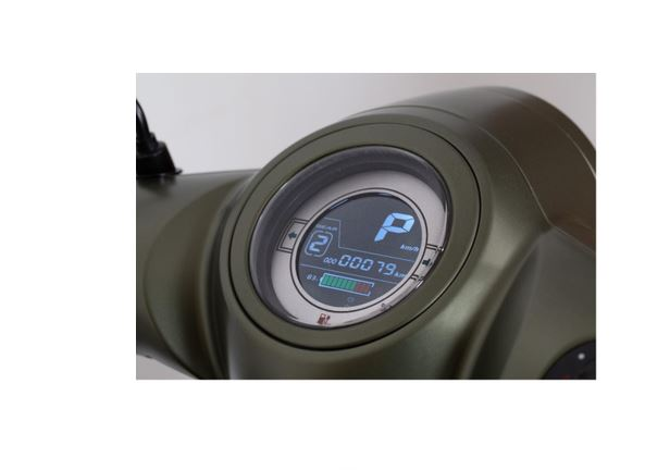 Elektroroller Retro Modern Efo ET4000 80Km/h LI military mattgrün Bild 6
