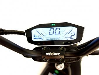Chopper, Elektroroller, E-Roller 1500/25/3.0 schwarz-weinrot glänzend Bild 3